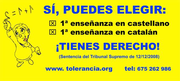 Campaña por el bilingüismo de la Asociación por la Tolerancia