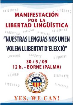 Manifestación por la libertad lingüítica (Palma de Mallorca)