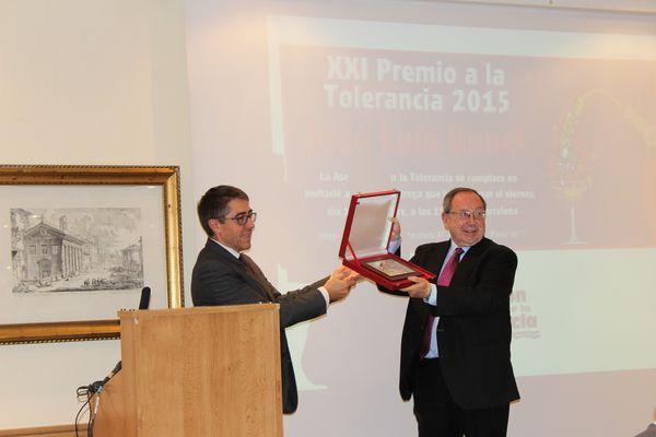 Tolerancia XXI Premio: José Luis Bonet