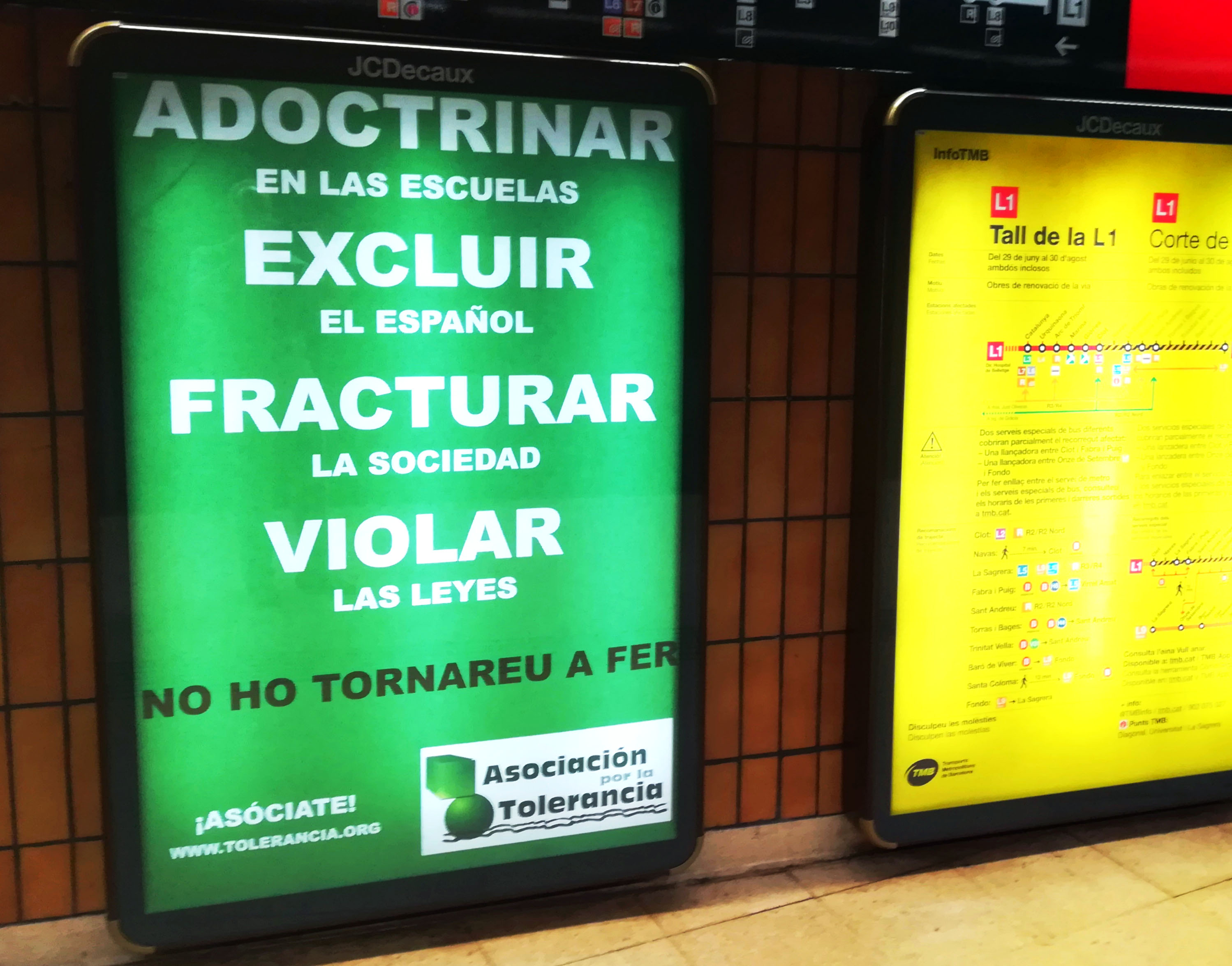 LOS AVATARES DE LA CAMPAÑA 'NO HO TORNAREU A FER'