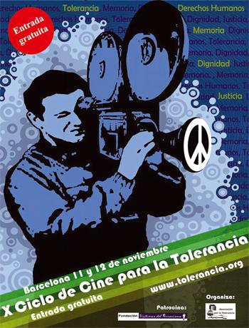 Cartel del X Ciclo de Cine para la Tolerancia